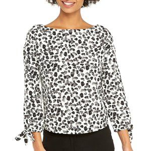 L The Limited Puff Tie Sleeve Top